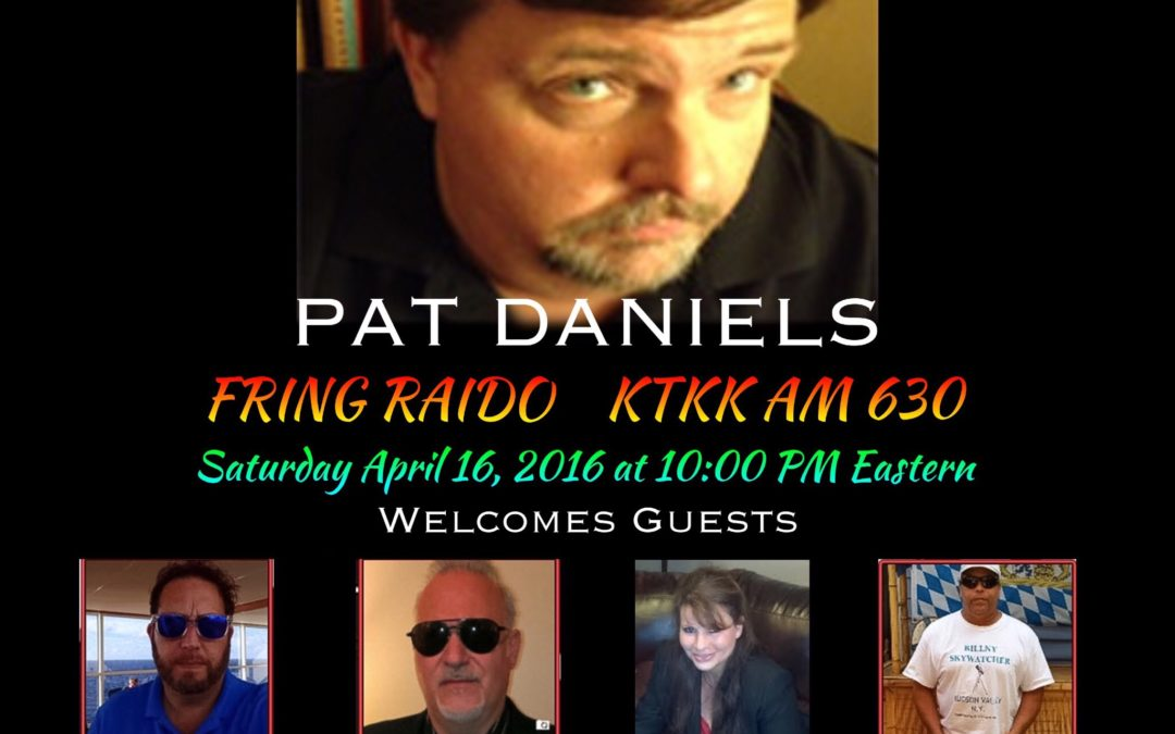 Bronxville Paranormal Society BPS on the Fringe Radio Show with host Pat Daniels Saturday April 16, 2016